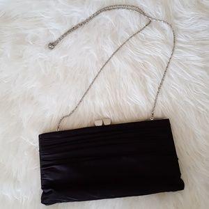 Black Satin Lulu Townsend Evening Bag